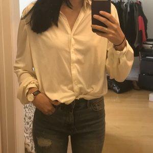Vintage Tops - Vintage ivory button up shirt
